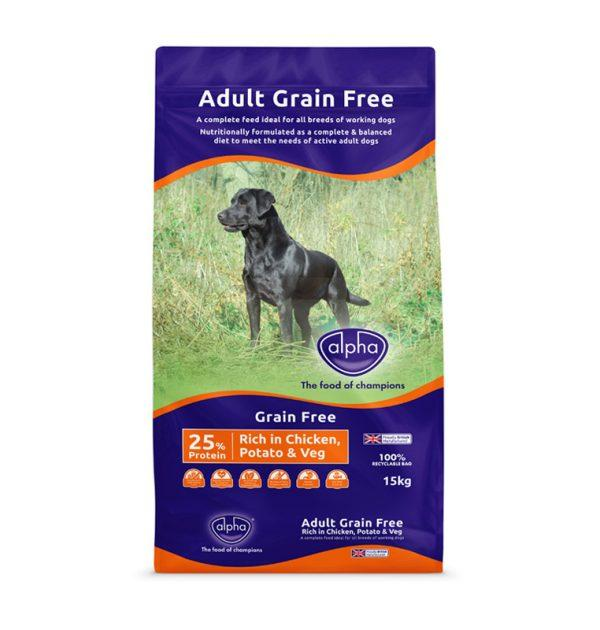 Alpha Grain Free Working Dog Chicken