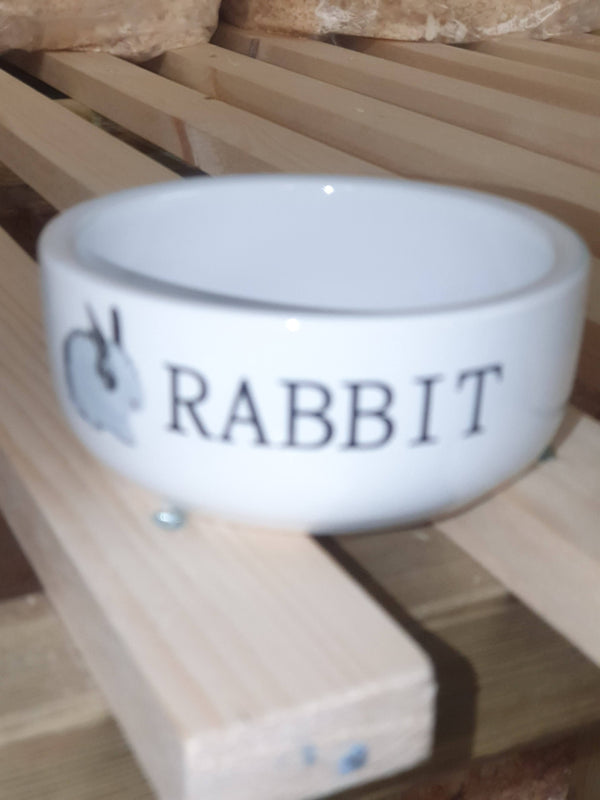 Ceramic Rabbit Bowl 4.5""