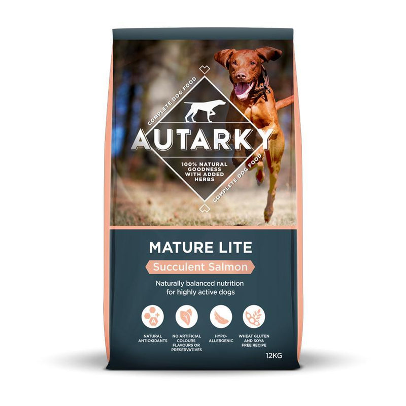 Autarky Mature Lite Salmon 12kg Dry Dog Food Autarky