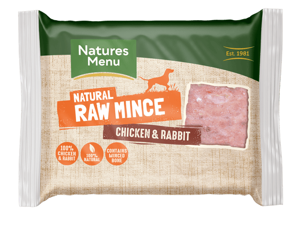 NM Chicken/Rabbit Block 400g Raw Dog Food Natures Menu