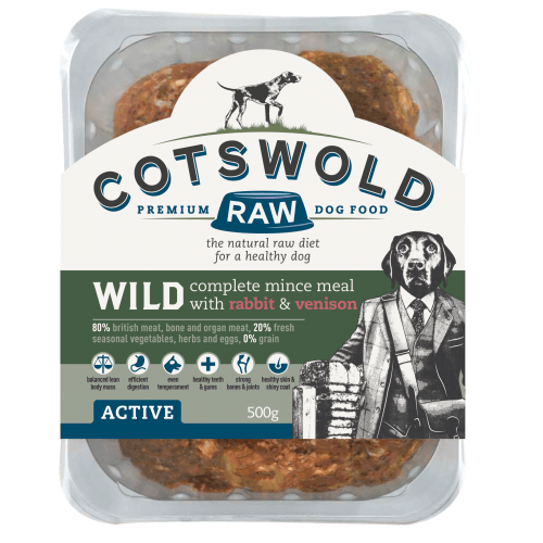 Cotswold Wild Mince Rabbit/Venison 1kg Raw Dog Food Cotswold Raw