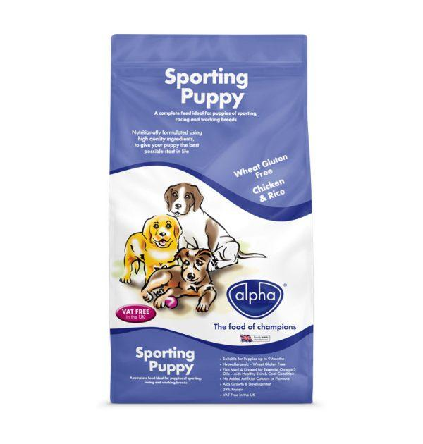 Alpha Sporting Puppy 15kg Dry Dog Food Alpha