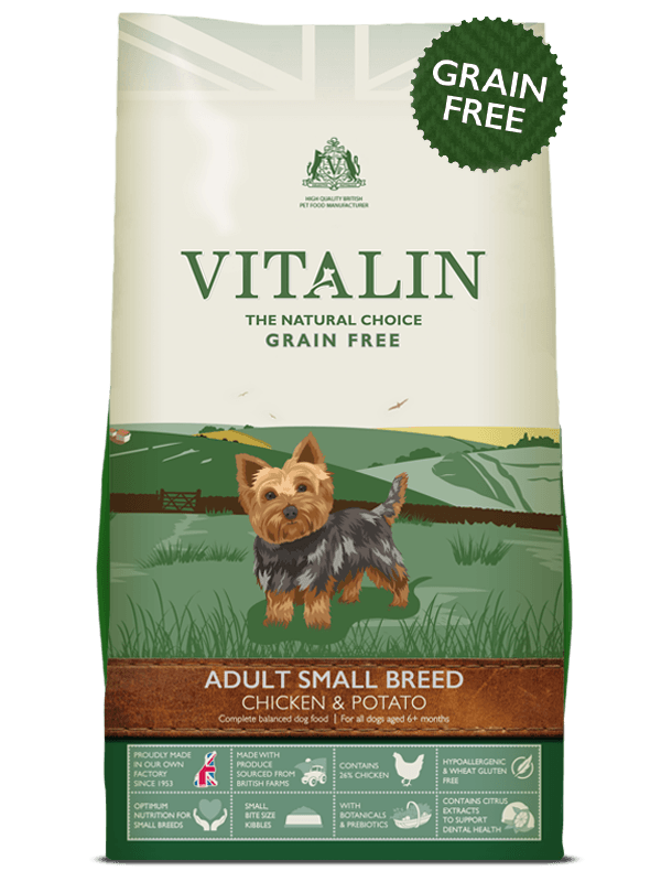 Vitalin Adult Small Breed 2kg Dry Dog Food Vitalin