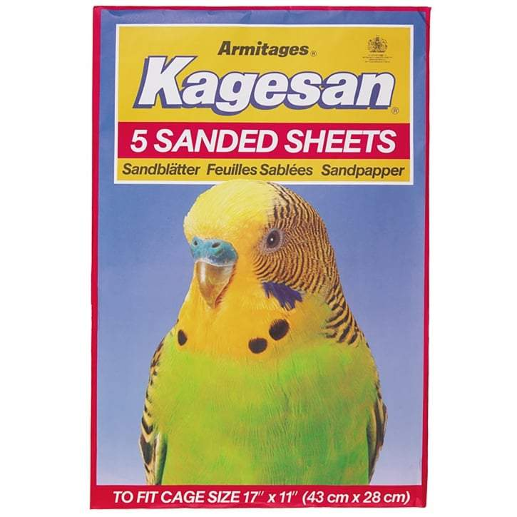 5 Red Medium Sanded Sheets Bird Cages Kagesan
