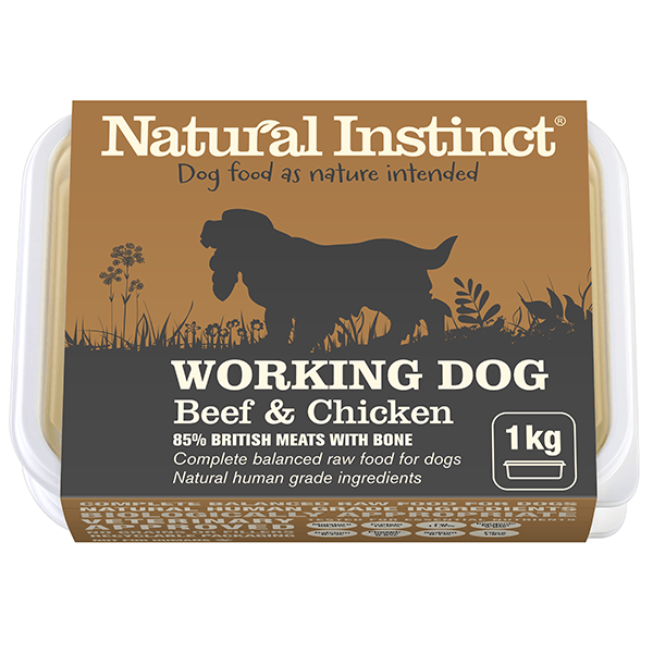 Natural Instinct Working Dog Beef 1kg Dog Food Natural Instinct