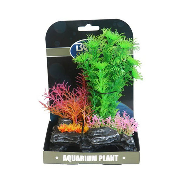 Betta Choice Mini Air Gardens Green & Pi Plastic Plants Betta