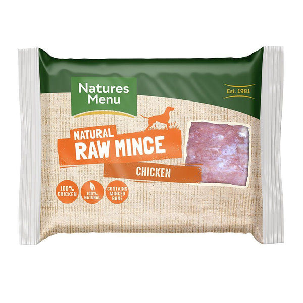 NM Chicken Block 400g Raw Dog Food Natures Menu
