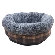 "Ancol Dog Donut Bed Brown 20"" Dog Beds Ancol"