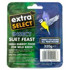 Extra Select Insect Suet Block 320g Outdoor Food Extra Select