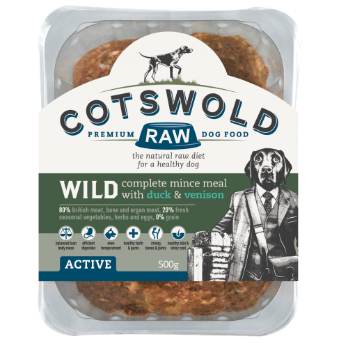 Cotswold Wild Mince Duck/Venison 1kg Raw Dog Food Cotswold Raw