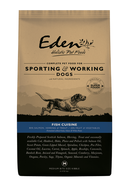 Eden Fish Small Kibble 15kg Dry Dog Food Eden