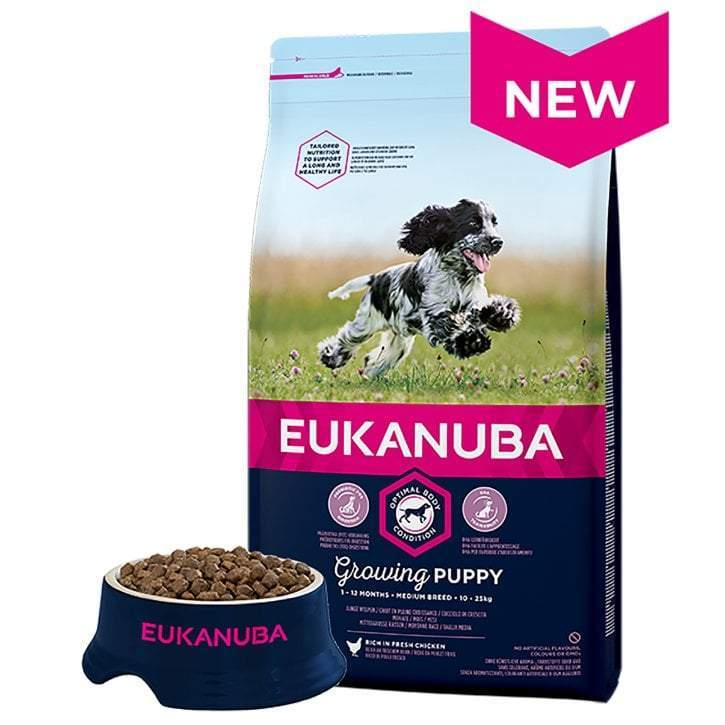 Eukanuba Puppy Medium Breed 2kg Chicken Dog Food Eukanuba