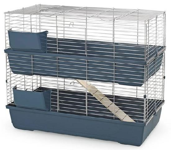 2 Storey Indoor Cage 100cm Twin