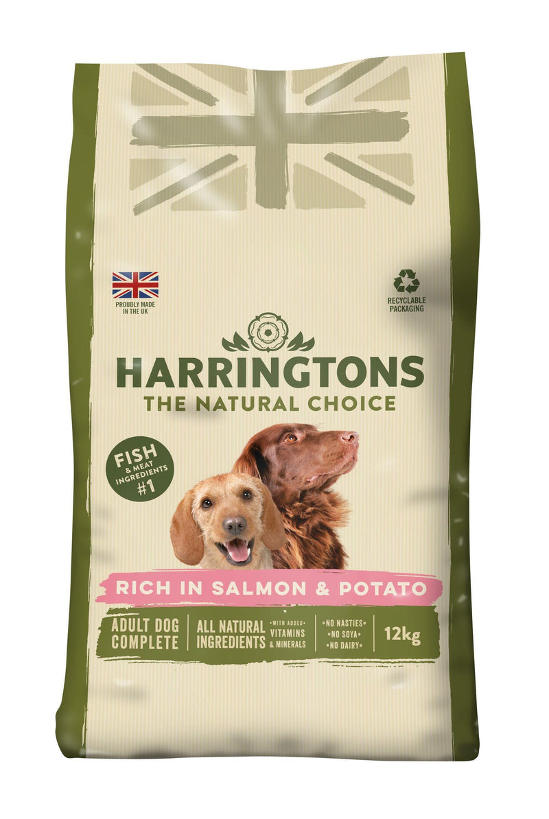 Harringtons Dog Salmon & Potato 12kg Bulk Dog Food Harringtons