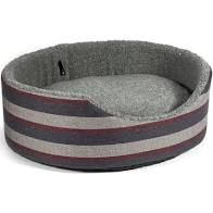 Ancol Pewter Stripe Oval Bed 60cm Dog Beds Ancol