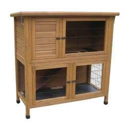 "46"" Hutch with Run Solid Base 115x55x116 Hutches & Runs Lazy Bones"