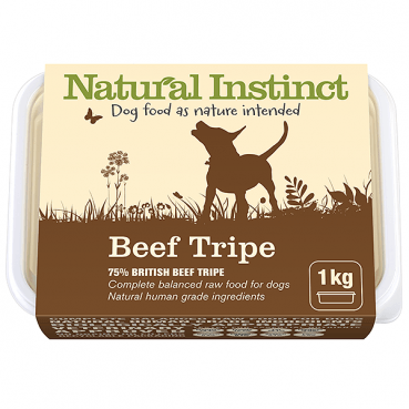 Natural Instinct 1kg Natural Beef Tripe Raw Dog Food Natural Instinct