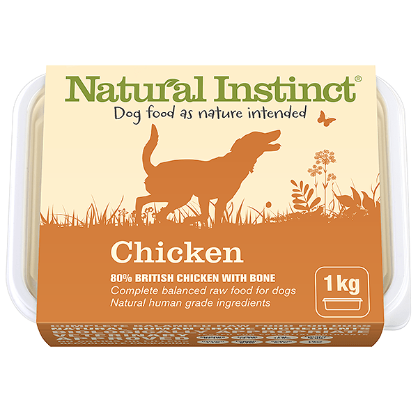 Natural Instinct 1kg Natural Chicken Frozen Food Natural Instinct