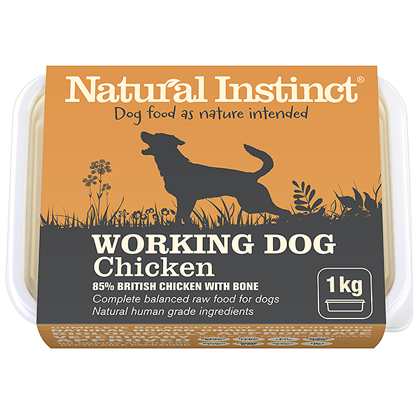 Natural Instinct Working Dog Chicken 1kg Raw Dog Food Natural Instinct