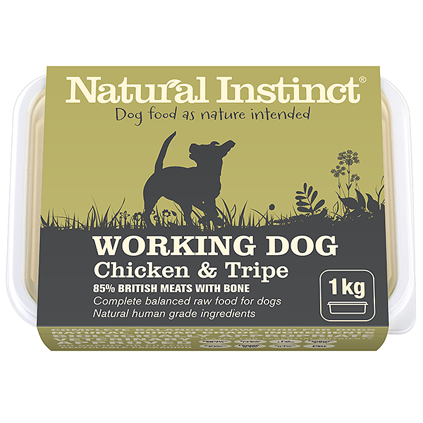 Natural Instinct Working Chicken/Tpe 1kg Raw Dog Food Natural Instinct