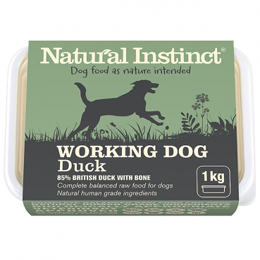 Natural Instinct Working Duck 1kg Raw Dog Food Natural Instinct
