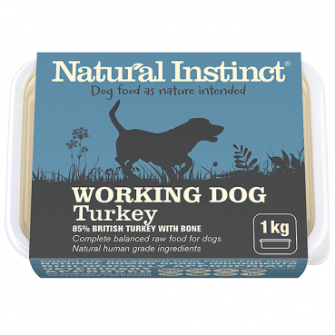 Natural Instinct Working Dog Turkey 1kg Dog Food Natural Instinct