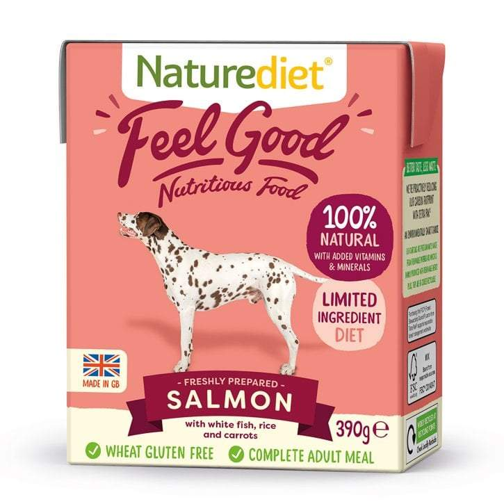 Naturediet Feel Good Salmon 390g Wet Dog Food Naturediet