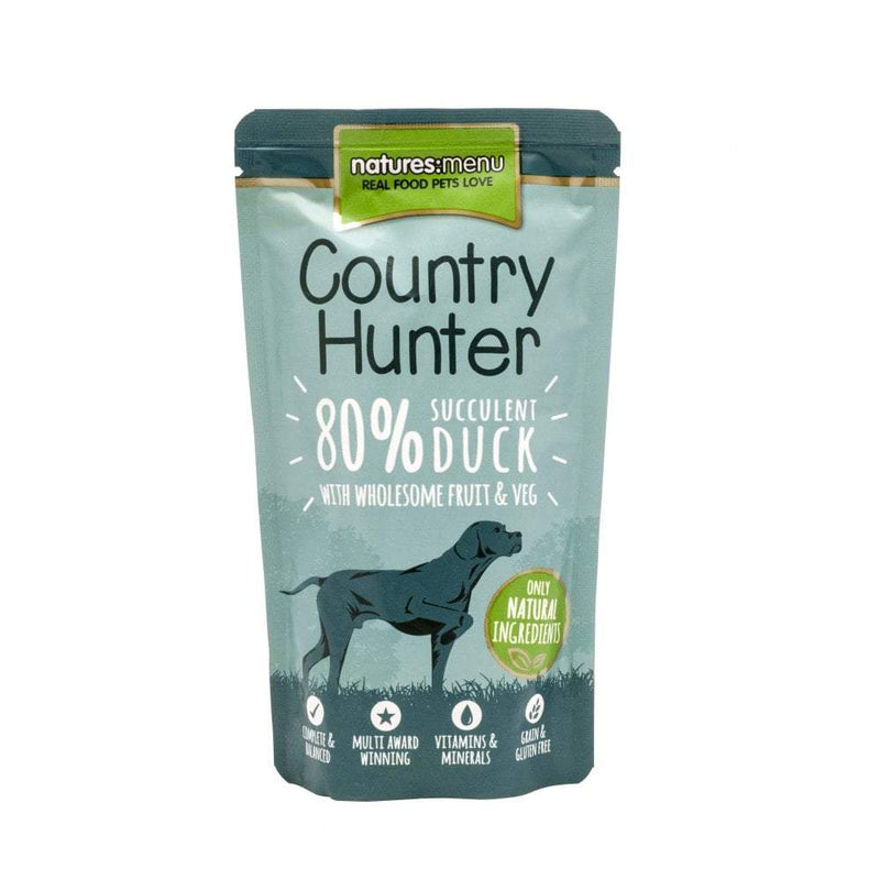 NM Country Hunter Duck Pouch 150g Wet Dog Food Natures Menu