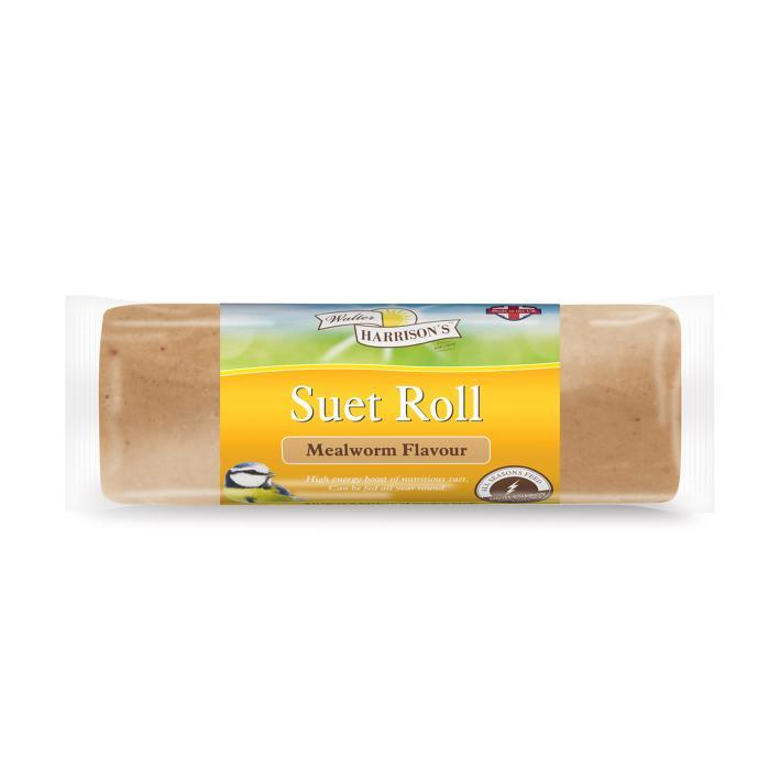 Harrisons Suet Roll with Mealworms 500g Outdoor Food Harrisons