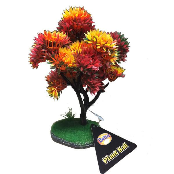 Betta Choice Plastic 17cm Autumn Tree Plastic Plants Bradlands Pet Supplies