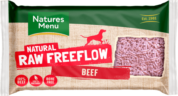 NM Freeflow Beef Mince 2kg Raw Dog Food Natures Menu