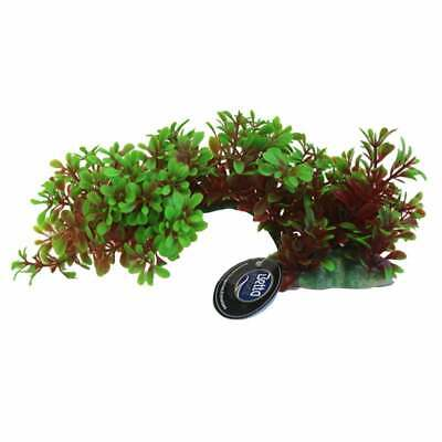 "Betta 9"" Green/Red Bendy Branch Plastic Plants Betta"