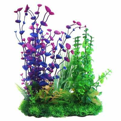 Betta 13 Inch Purple & Green Plastic Pla Plastic Plants Betta