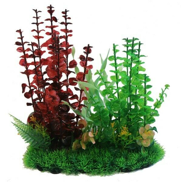 Betta 13 Inch Red & Green Combi Plant Plastic Plants Betta