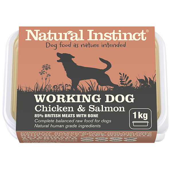 Natural Instinct Working Dog Salmon 1kg Raw Dog Food Natural Instinct