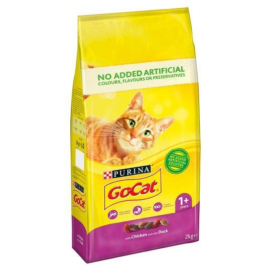 Go Cat Chicken/Duck 2kg Dry Cat Food Go Cat