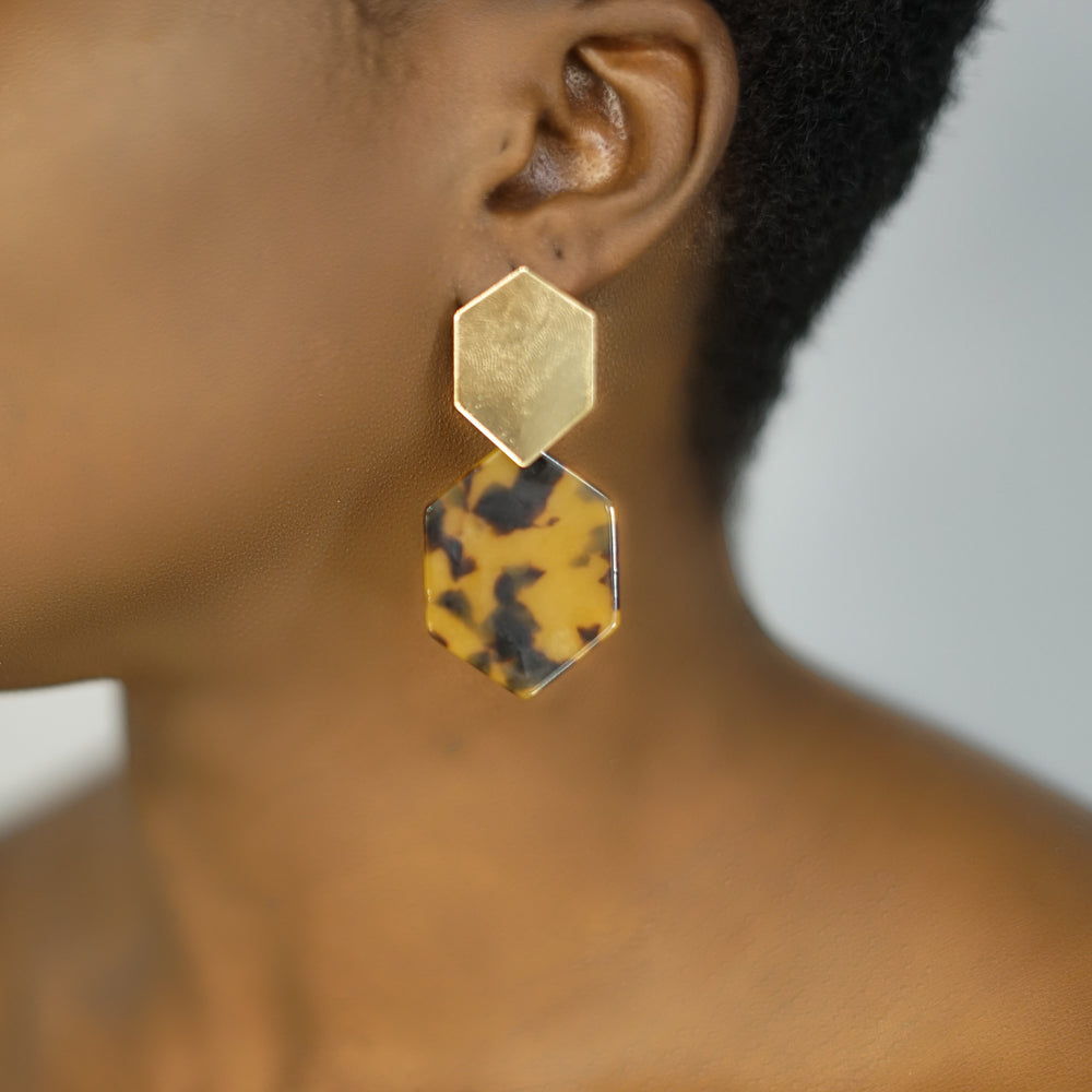 Load image into Gallery viewer, DARCY cheetah print earrings