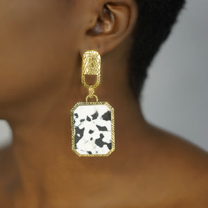ZULA marble statement earrings