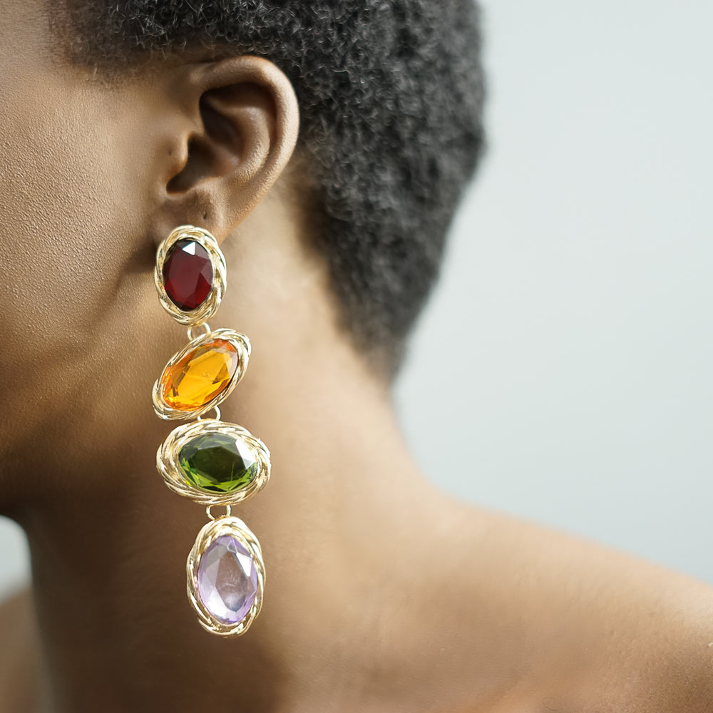 Load image into Gallery viewer, BEVERLY crystal drop earrings