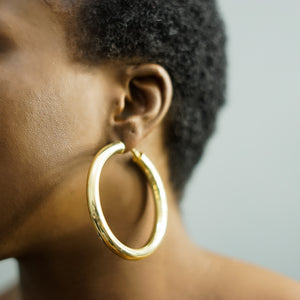 Load image into Gallery viewer, NAKIA medium thick hoops
