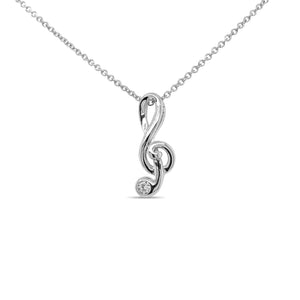 "Silver Necklace ""Clef"""