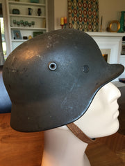 SOLD German M40 Helmet with Liner and Chinstrap