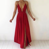 Deep V-Neck Sleeveless Women Club Dress