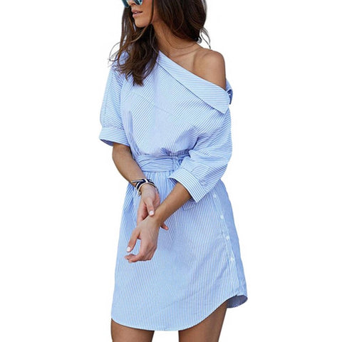 Women Split Half Sleeve Beach Dress