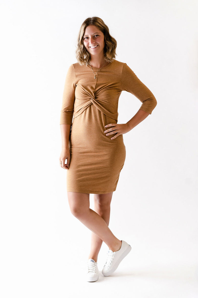Robe FIRST KISS avec noeud - caramel