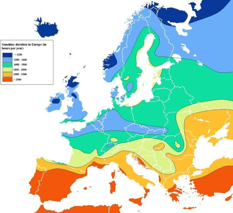 Temperature around Europe