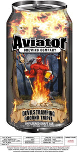 Aviator Metal Tacker Can Sign - Devils Tramping Ground