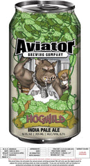 Aviator Metal Tacker Can Sign - HogWild IPA