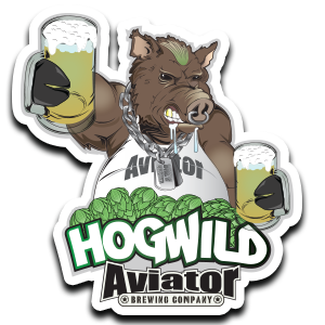 Aviator Metal Tacker Sign - HogWild NEW!!!