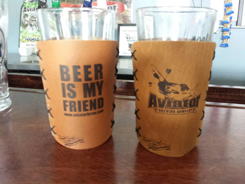Aviator Leather Coozie